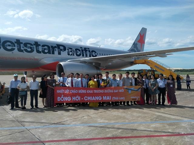 Jetstar Pacific mở đường bay Quảng Bình - Chiang Mai