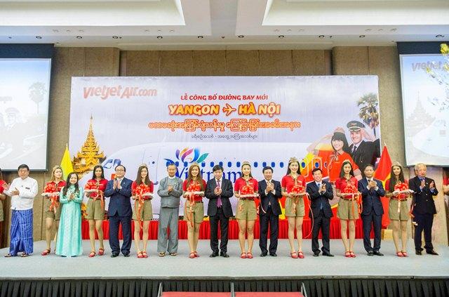 Vietjet khai trương đường bay Hà Nội (Việt Nam) – Yangon (Myanmar)