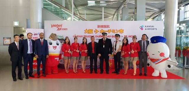 Vietjet khai trương đường bay từ Tp.HCM đến Osaka (Nhật Bản)