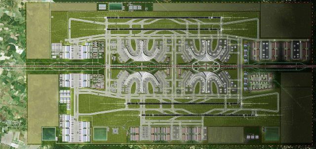 Mô hình dự kiến giai đoạn cuối của dự án sân bay quốc tế Long Thành